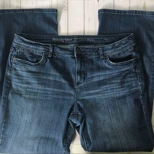 Simply Vera Boot Cut Jeans Sz 16
